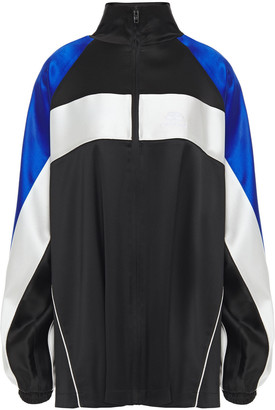 Balenciaga Color-block Satin-crepe Jacket