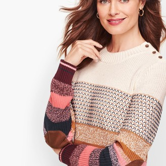 Talbots Textured Stripe THERMOLITE Sweater