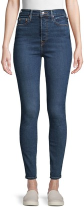 True Religion Caia Button Super Skinny Jeans
