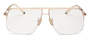 Karen Walker Unisex Melba Brow Bar Aviator Blue Light Glasses, 60mm