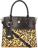 *LYDC Leopard Lock Front Tote Bag