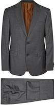 Pal Zileri Dark Grey Checked Wool Suit