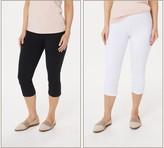 Women With Control Women with Control Petite Set of 2 Tushy Lifter Capri Pants