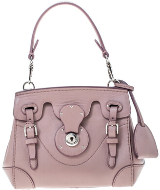Ralph Lauren Pale Pink Leather Mini Ricky Tote