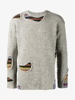 Miharayasuhiro Patchwork Wool Sweater