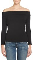 1 STATE 1.State Off the Shoulder Stretch Jersey Top