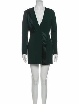 Dion Lee Plunge Neckline Mini Dress Green