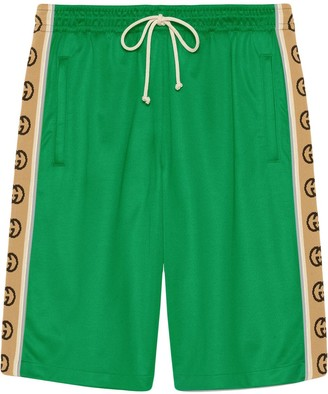 Gucci Side-Stripe Technical Shorts