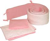 Tadpoles Dimple Velour Cradle 3 Piece Crib Bedding Set
