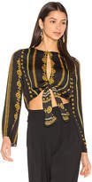 House Of Harlow x REVOLVE Jane Blouse in Black. - size L (also in M,S,XL,XS)