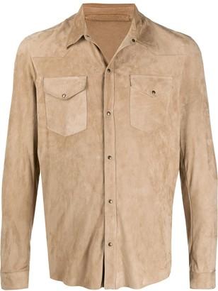 Salvatore Santoro leather shirt-jacket