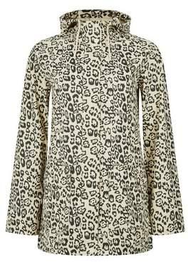Dorothy Perkins Womens Cream Leopard Print Pocket Raincoat, Cream