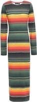 House of Holland Striped Stretch-jersey Midi Dress