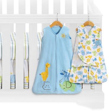 Serengeti HALO® SleepSack™ Blue 5-Piece Bumper-Free Crib Set