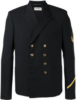 Saint Laurent double breasted military jacket - men - Wool - 50