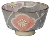 Yamakiikai Seto ware Jinshan mouse Shino floral tea ceremony bowl Y-1675 (japan import)