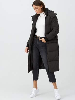 Very Longline Maxi Oversized Coat - Dark Khaki