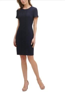 Karl Lagerfeld Damen Tie Sleeve Sheath Freizeitkleidung