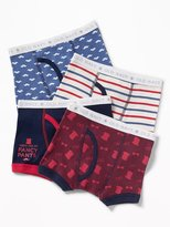 Old Navy Patterned Boxer-Briefs 4-Pack for Toddler Boys