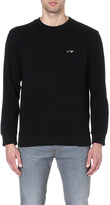 Armani Jeans Logo-embroidered cotton sweatshirt