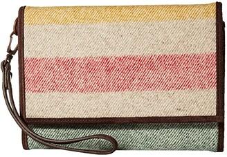Pendleton Trifold Smartphone Wallet (Glacier Stripe) Handbags