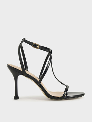 Charles & Keith Patent Strappy Stiletto Heels