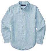Ralph Lauren Boys 8-20 Logo Embroidered Shirt