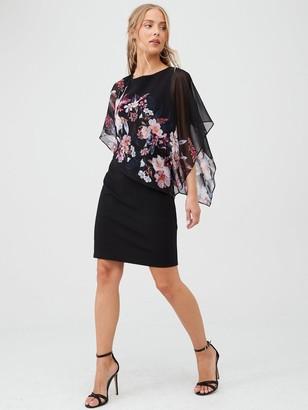 Wallis Magnolia Overlayer Dress - Monochrome
