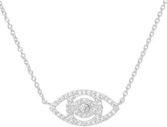 Kamaria Evil Eye Crystal Necklace Silver