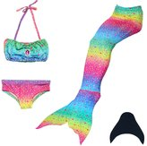 loenzo otiz Girl mermaid tail for swimming and fins set 4PC M120