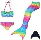 loenzo otiz Girl mermaid tail for swimming and fins set 4PC M130