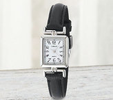 Timex Carriage by Women's Rectangular Watch w/Black Strap