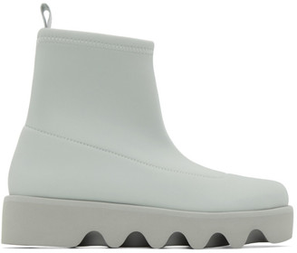 Issey Miyake Grey United Nude Edition Short Bounce Boots