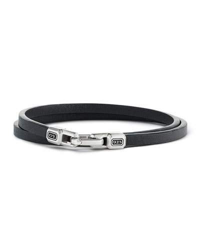 David Yurman Streamline Leather Double-Wrap Bracelet