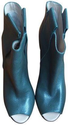 Golden Goose Green Leather Boots