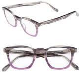 Corinne McCormack Women's Annie 46Mm Reading Glasses - Grey Fade Purple