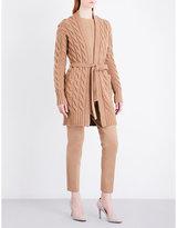 Max Mara Violino self-tie wool and cashmere-blend cardigan