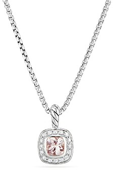 David Yurman Albion Kids Necklace with Morganite & Diamonds