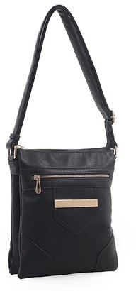 MKF Collection by Mia K. Women's Crossbodies Black - Black Helenium Shoulder Bag