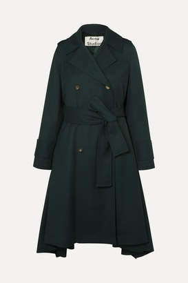 Acne Studios Olwen Twill Trench Coat - Forest green
