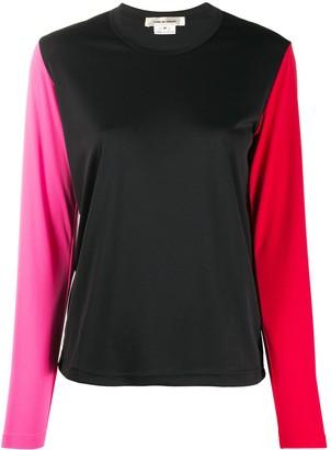 Comme des Garcons colour block longsleeved T-shirt