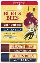 Burt's Bees Lip Balm - Wild Cherry & Vanilla Bean Blister Box Combo 2 Pack