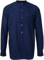 Attachment mandarin neck shirt - men - Cotton/Linen/Flax - 1