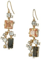 Alexis Bittar Geometric Multi Stone Wire with Satellite Crystal Detail Earrings Earring