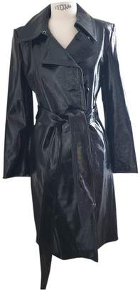 Helmut Lang Black Leather Trench coats