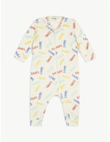 Bonnie Mob Retro love print cotton sleepsuit 0-18 months