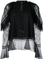 Just Cavalli lace overlay blouse - women - Polyamide/Polyester - 38