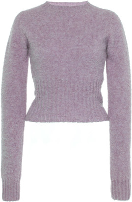 Victoria Beckham Cropped Seamless Wool Sweater