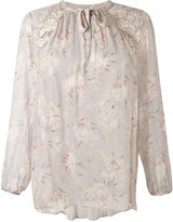 Zimmermann longsleeve floral blouse - women - Silk - 1