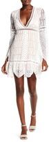 Nicole Miller Knit Trim V-Neck Dress